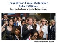Inequality and Social Dysfunction