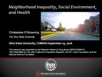 Neighborhood Inequality, Social Environment, and Health