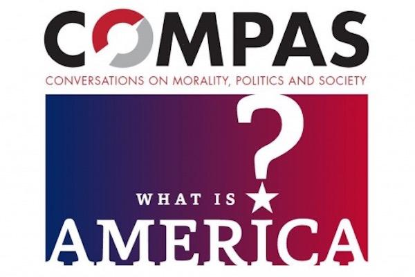 "COMPAS ""What Is America?"" logo"