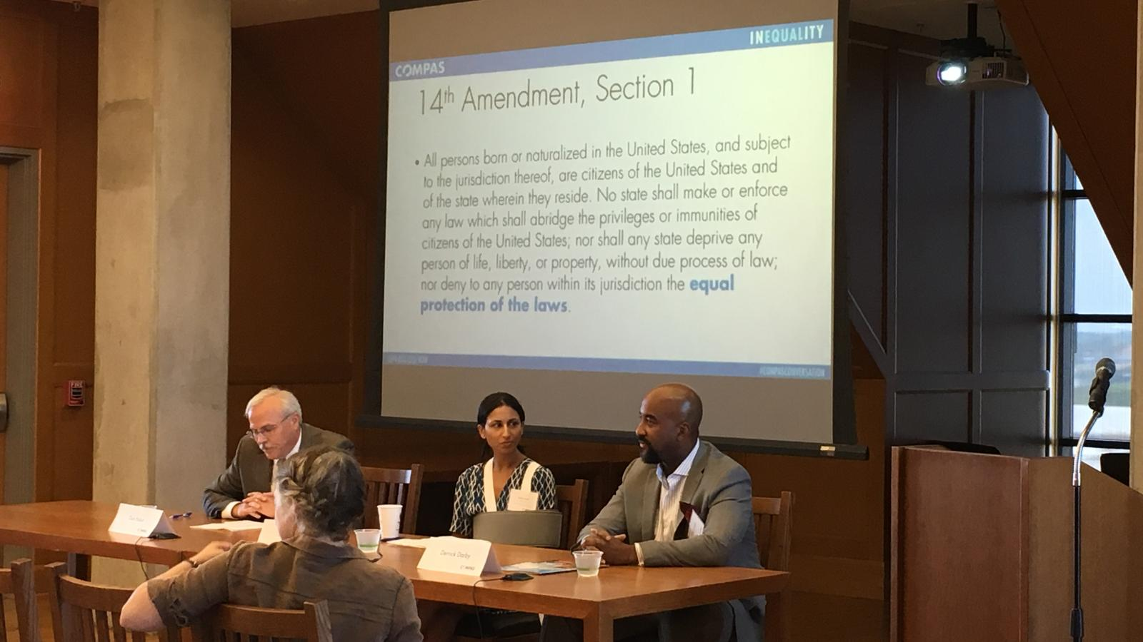 Derrick Darby and Rekha Nath speak at the Fall Conference